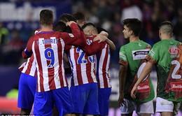 Lượt về vòng 1/16 cúp Nhà vua TBN: Atletico đè bẹp Guijuelo