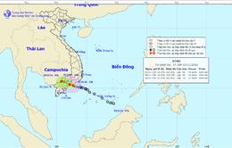 Chiều 5/11, áp thấp nhiệt đới đi vào đất liền các tỉnh Bình Thuận - Bà Rịa Vũng Tàu