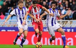 """Vòng 11 La Liga: Atletico """"trượt chân"""" trong cuộc đua vô địch"""