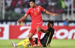 VIDEO: David Htan ghi bàn thắng duy nhất, ĐT Myanmar thắng tối thiểu Malaysia