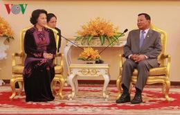 Chủ tịch Quốc hội hội kiến Chủ tịch Thượng viện Campuchia