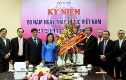 Đồng chí Đinh Thế Huynh thăm Bộ Y tế nhân kỷ niệm 61 năm ngày Thầy thuốc Việt Nam