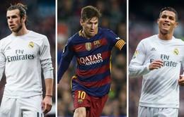 """Kí hợp đồng """"khủng"""" nhưng Gareth Bale chưa thể """"qua mặt"""" Ronaldo và Messi"""