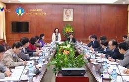 Đồng chí Trương Thị Mai làm việc với Ban Cán sự Đảng Bộ NN&PTNT