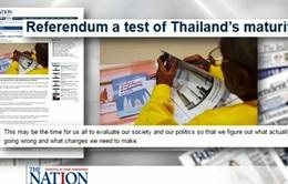 Thái Lan trưng cầu dân ý về dự thảo hiến pháp mới