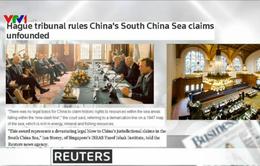 Báo chí quốc tế ca ngợi phán quyết của Tòa Trọng tài về Biển Đông