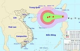 13h ngày 7/10, tâm bão số 6 cách quần đảo Hoàng Sa 620km
