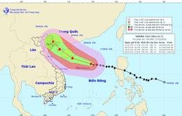 Tâm bão số 7 cách quần đảo Hoàng Sa khoảng 260km