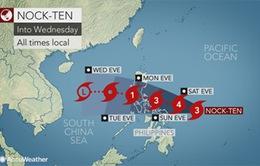 Bão Nock-Ten đổ bộ vào Philippines