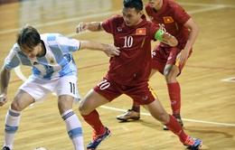 ĐT futsal Việt Nam thất bại trước chủ nhà Argentina dù dẫn trước 2 bàn