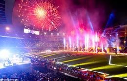 Barcelona bắn pháo hoa ở Camp Nou ăn mừng cú đúp danh hiệu
