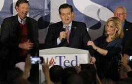 Bầu cử tổng thống Mỹ: Thượng nghị sĩ Ted Cruz giành thắng lợi tại Iowa