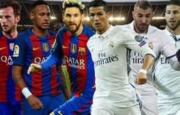 22h15 - 3/12, Vòng 14 La Liga: Barcelona - Real Madrid: Dậy sóng Camp Nou