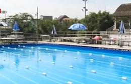 """Quảng Ngãi: Hoàn thành bể bơi cho sự kiện """"Bơi cùng Ánh Viên"""""""