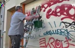 Chiêu đối phó nạn vẽ bậy lên tường ở Brussels, Bỉ