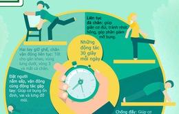 [INFOGRAPHIC] Những động tác đơn giản giúp bạn khỏe hơn mỗi ngày