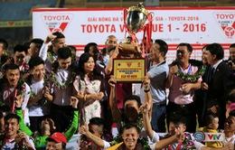 Ảnh: Hà Nội T&T vô địch V.League 2016 sau cuộc đua nghẹt thở với Hải Phòng