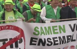 Bỉ: Biểu tình phản đối Hiệp định tự do thương mại Âu - Mỹ