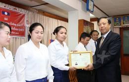 Khai giảng lớp học tiếng Việt khóa mới tại Bộ An ninh Lào