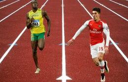 """HLV Arsene Wenger không tin học trò """"chung mâm"""" Usain Bolt"""