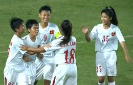 ĐT U16 nữ Việt Nam thắng đậm ĐT U16 nữ Palestine
