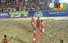 ĐT bóng ném bãi biển nam thắng cách biệt ĐT Afghanistan