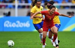 Olympic Rio - Bảng E bóng đá nữ: Brazil, Thụy Điển giành 3 điểm đầu tiên