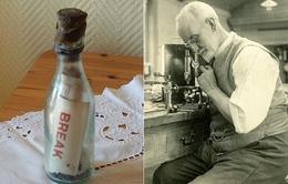 Tìm thấy bức thư trong chai cổ nhất thế giới