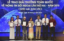 70 tác phẩm giành giải thưởng về thông tin đối ngoại