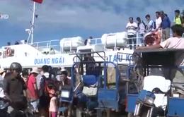 Mất trật tự an toàn giao thông ở cảng cá Lý Sơn