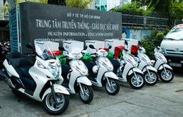 TP.HCM: Lần đầu tiên dùng xe máy cấp cứu bệnh nhân