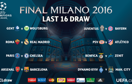 Lịch thi đấu vòng 1/16 Champions League: Nóng ngay từ ngày trở lại