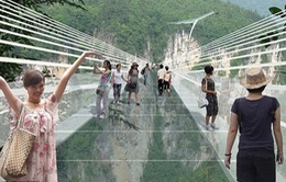 Ngộp thở với cầu treo bằng kính cao nhất thế giới tại Trung Quốc