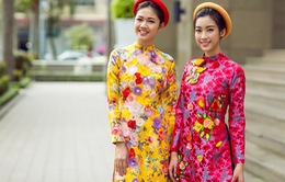 Hoa hậu Mỹ Linh, Á hậu Thanh Tú rực rỡ sắc xuân trong tà áo dài