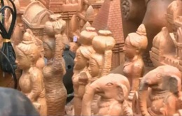 Biểu diễn nghệ thuật dân tộc tại tháp Chăm