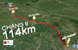 Lộ trình chặng 9 Giải đua xe đạp quốc tế VTV Cúp Tôn Hoa Sen 2016