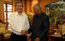 Thường trực Ban Bí thư Đinh Thế Huynh thăm và làm việc tại Lào