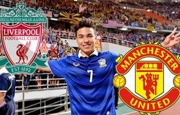 """Man Utd và Liverpool tranh nhau """"Ronaldo Thái Lan""""?"""