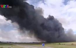 Cháy lớn tại bãi chứa lốp xe ở Tây Ban Nha