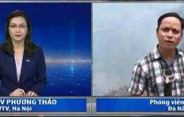 Cháy lớn gần khu du lịch Bà Nà