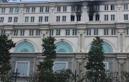 TP.HCM: Cháy tại tòa nhà Union Square trên phố đi bộ Nguyễn Huệ