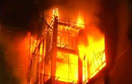Cháy kinh hoàng tại chợ Mingalazay, Myanmar