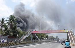 Đồng Nai: Cháy lớn tại chợ Hóa An, gần cầu Ghềnh
