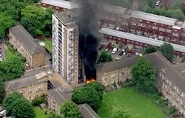Anh: Cháy chung cư 16 tầng, 50 người phải sơ tán