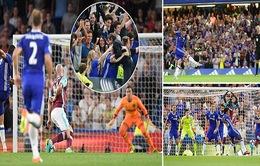Đá muộn vòng 1 Ngoại hạng Anh: Người hùng Costa giúp Chelsea thắng nhọc West Ham
