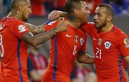 """Copa America 2016: """"Nhấn chìm"""" Panama, Chile giành vé tứ kết"""