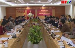 Chủ tịch Quốc Hội làm việc với Ban Thường vụ Tỉnh ủy Hà Tĩnh
