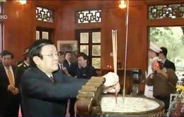 Chủ tịch nước Trương Tấn Sang thăm, chúc Tết tại Nghệ An