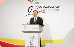 Chủ tịch nước phát biểu tại Hội nghị cấp cao Pháp ngữ lần thứ 16