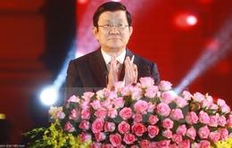 Chủ tịch nước Trương Tấn Sang dự chương trình Xuân Quê hương